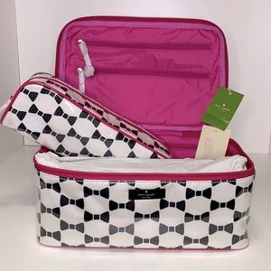 NWT Kate Spade Large Colin Cosmetic Case Set